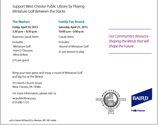 3.17.2015 West Chester Library
