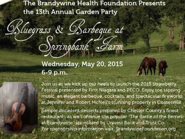 Brandywine Health Foundation Seeks Sponsors For Annual Garden Party