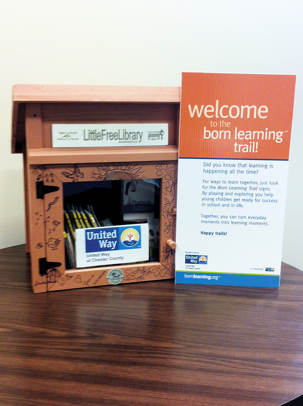 United Way of Chester County Promotes Reading By Adding Libraries To Trails