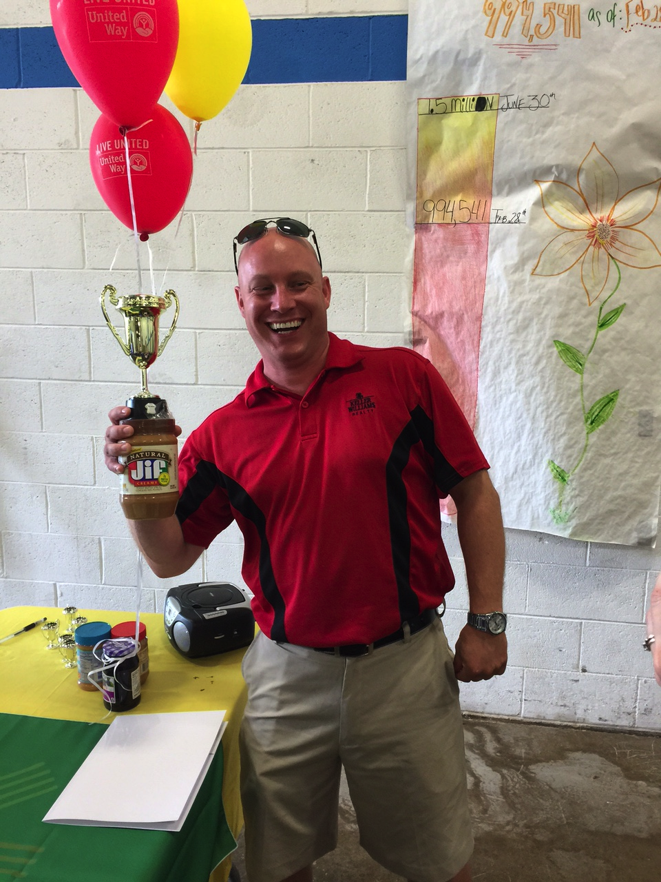 The 694 lbs. of PB&J Matt Gorman and his team collected & donated were enough to win the Peanut Butter Cup as the event's top donor.