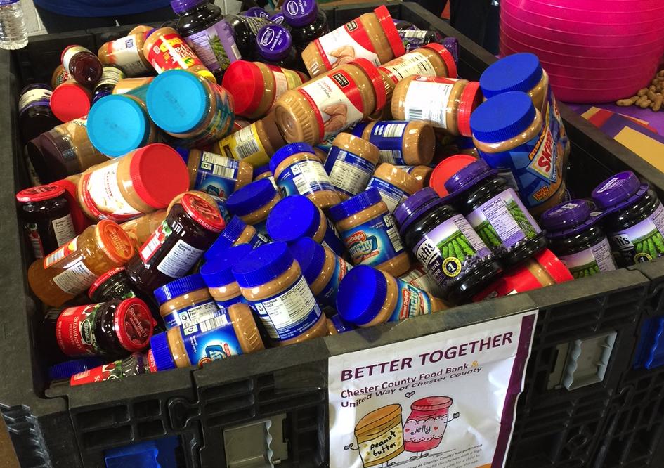 United Way Of Chester County PB&J Drive Fills Food Bank Shelves