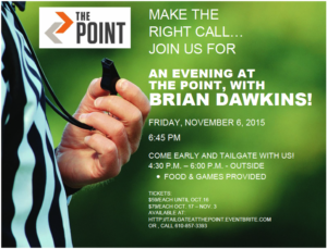 The point Evening with Dawkins