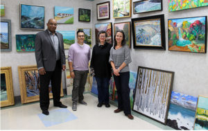 The judges awarded overe $7,000 in prize money to area artists.