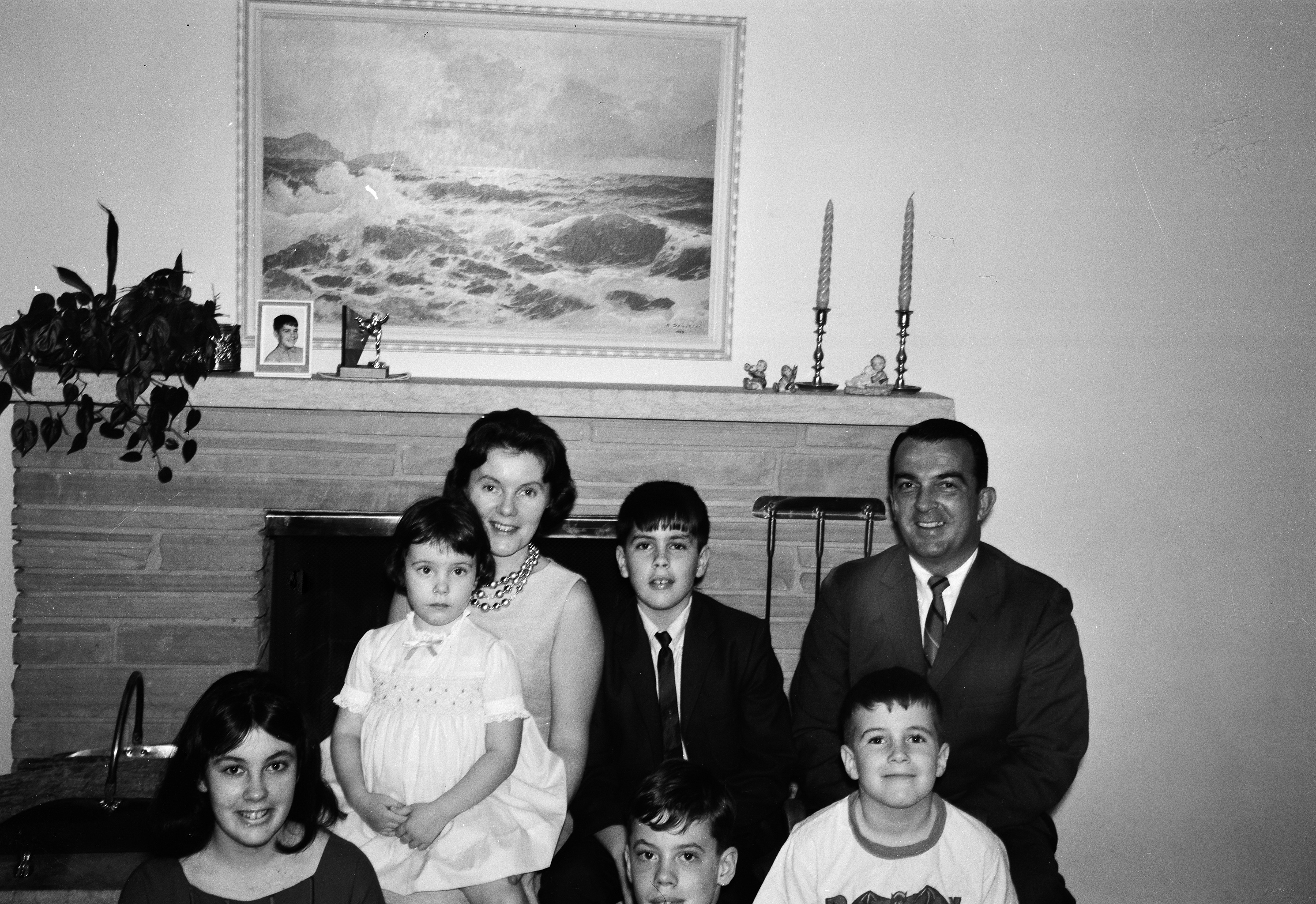 Chris Annas (top center) and family in the early years in Minnesota.