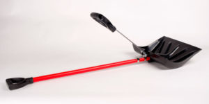 The shovelution's second handle transfers strain from the lower back to the upper body.--via Popular Mechanics.