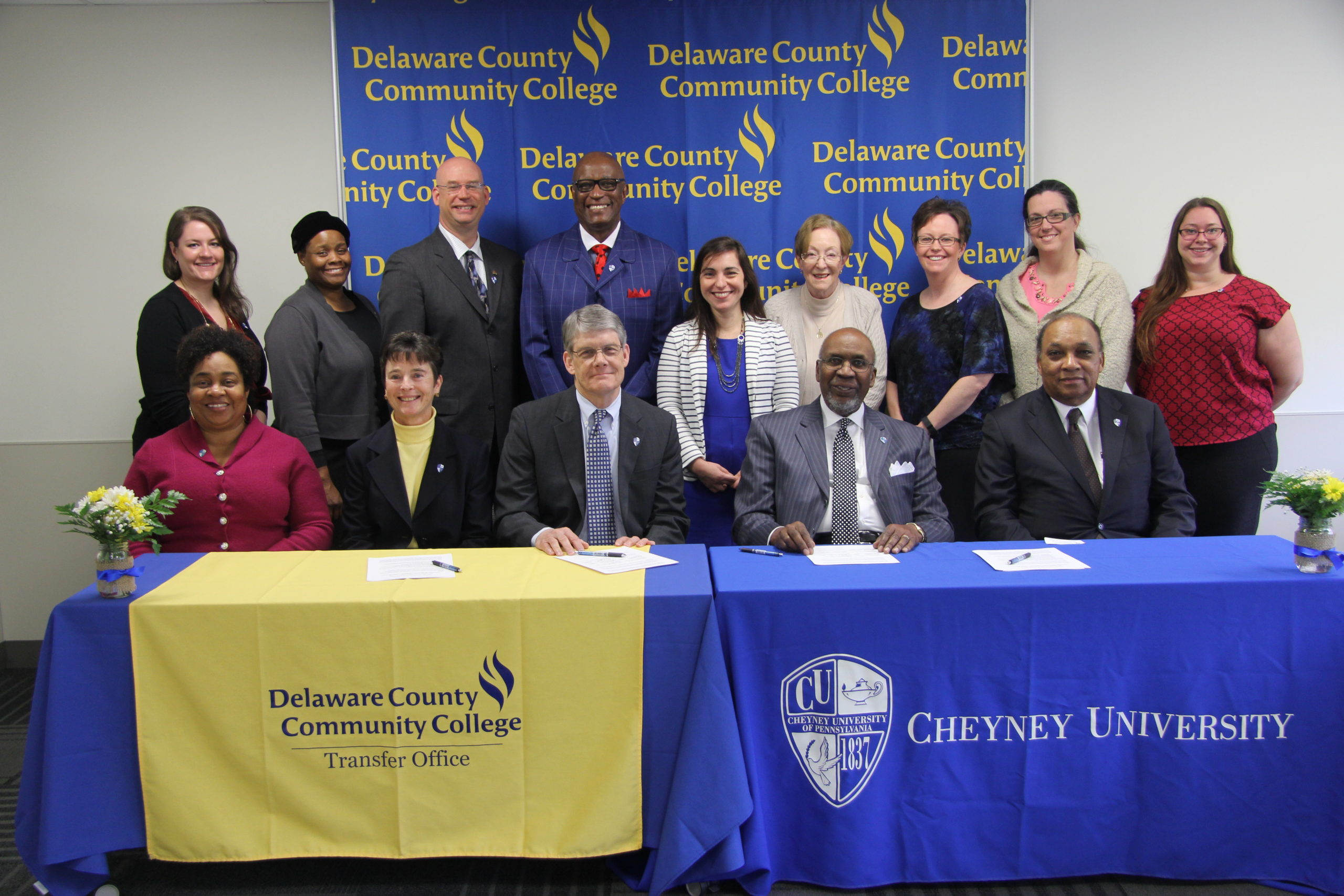 DCCC and Cheyney University Sign Student Transfer Deal