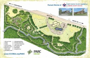 The site map for the BSA PARC.
