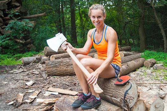 Chadds Ford's Martha King is a Champion Lumberjack (or Lumberjill?)