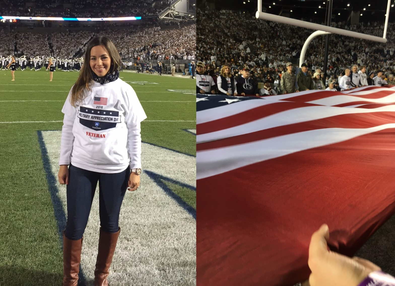 Pair of Marines, Penn State Great Valley Students Recognized Before 100,000 Fans at Beaver Stadium