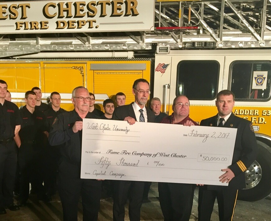 WCU Donates $50,000 to Neighboring Fame Fire Company's Capital Campaign