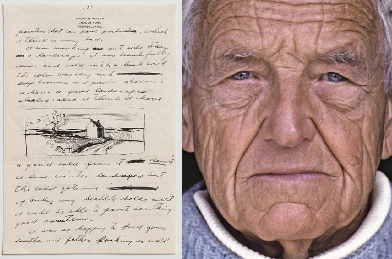 New Auction Unveils Secret Love Letters from Andrew Wyeth