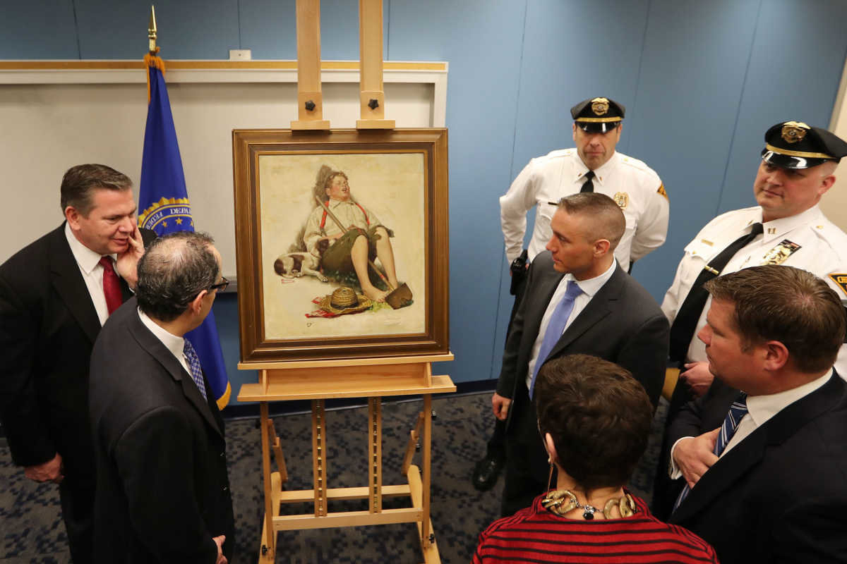 West Chester Woman's Family Gets Back Rockwell Painting Stolen 40 Years Ago