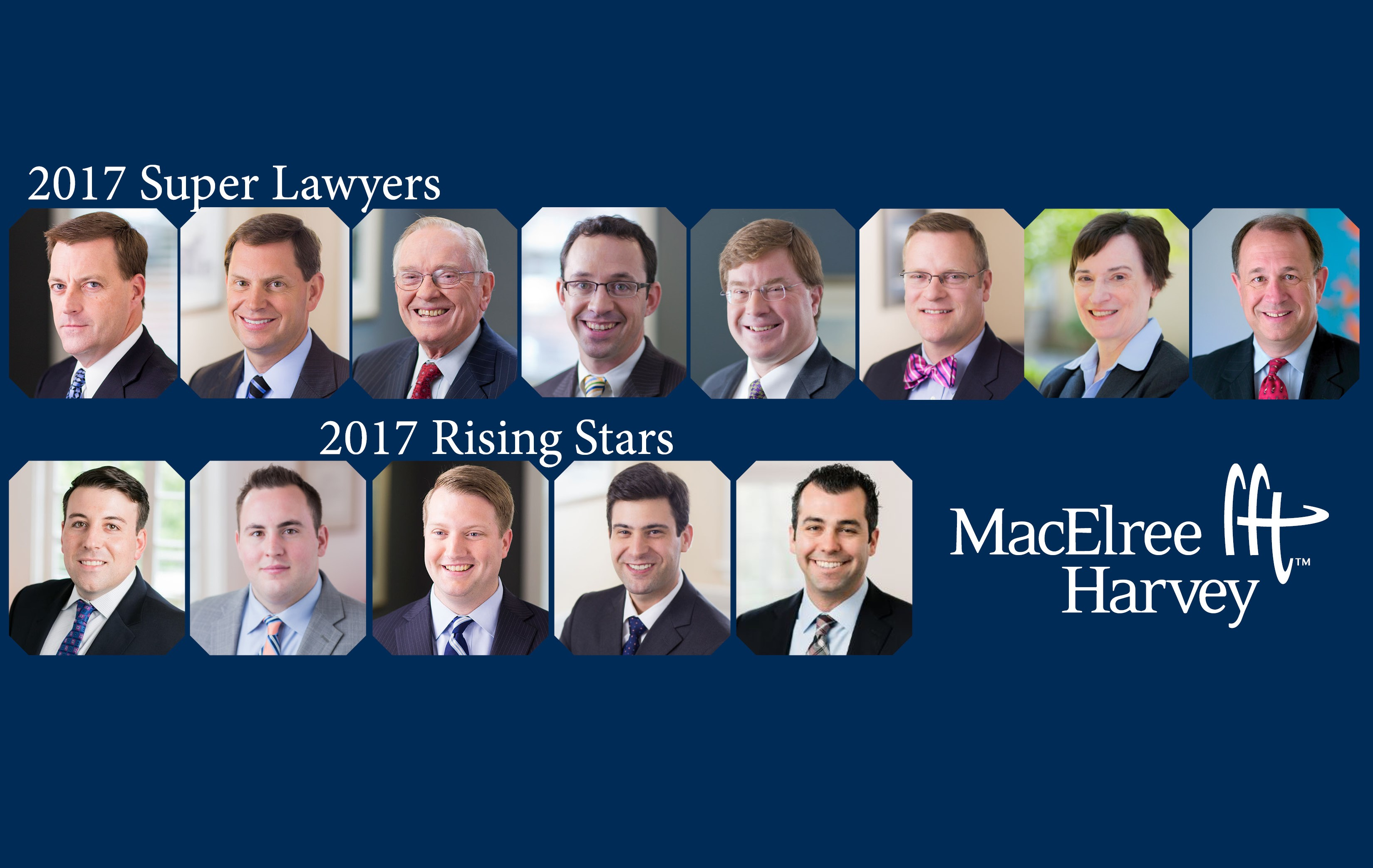 Thirteen MacElree Harvey Attorneys Recognized in 2017 Edition of Pennsylvania Super Lawyers