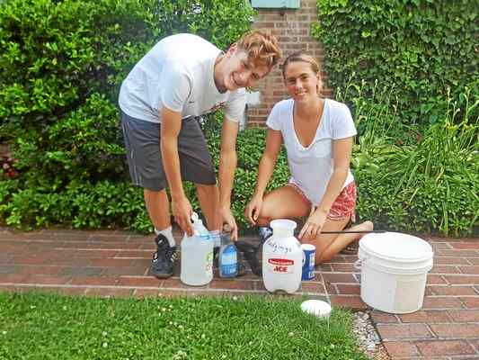 West Chester Siblings Create Organic Weed Killer