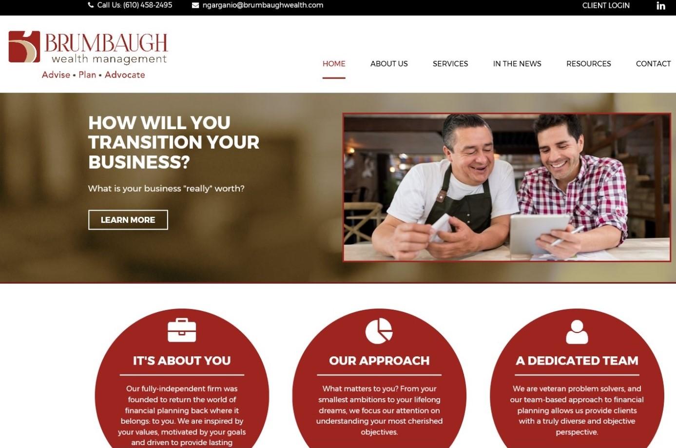 Exton's Brumbaugh Wealth Management Unveils New Website