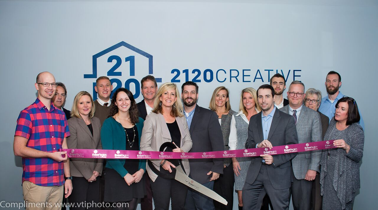 Chester Springs' 2120 Creative Hosts Ribbon-Cutting to Celebrate New Office, New Direction