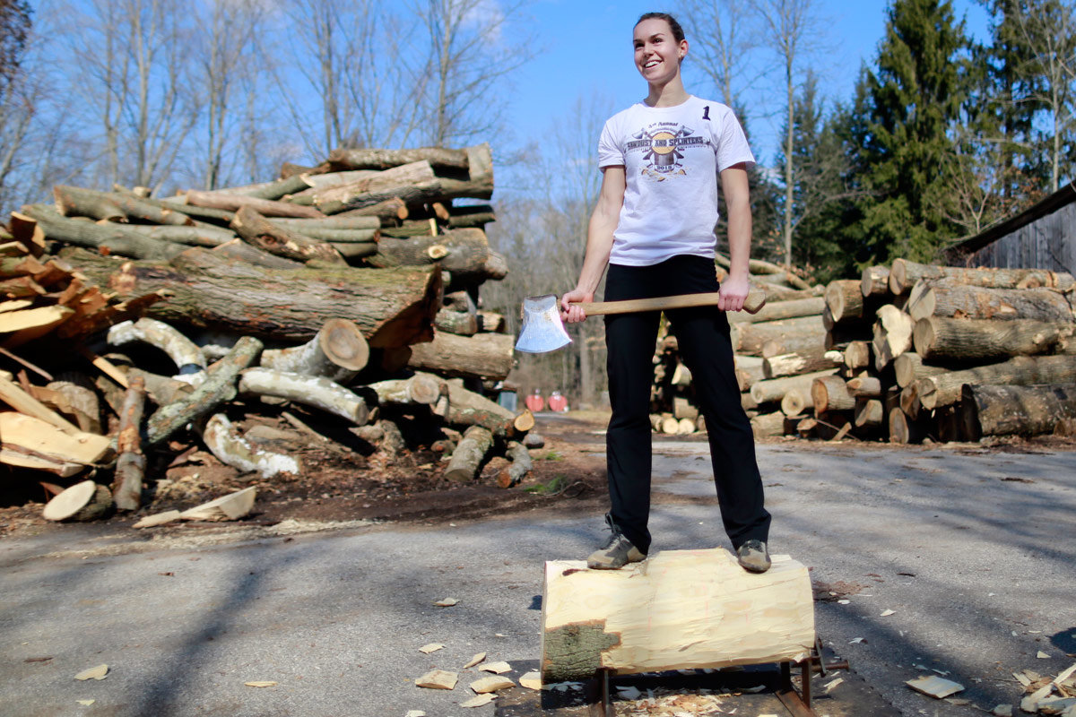 Chadds Ford Lumberjill Carves Her Way into Male-Dominated Sport