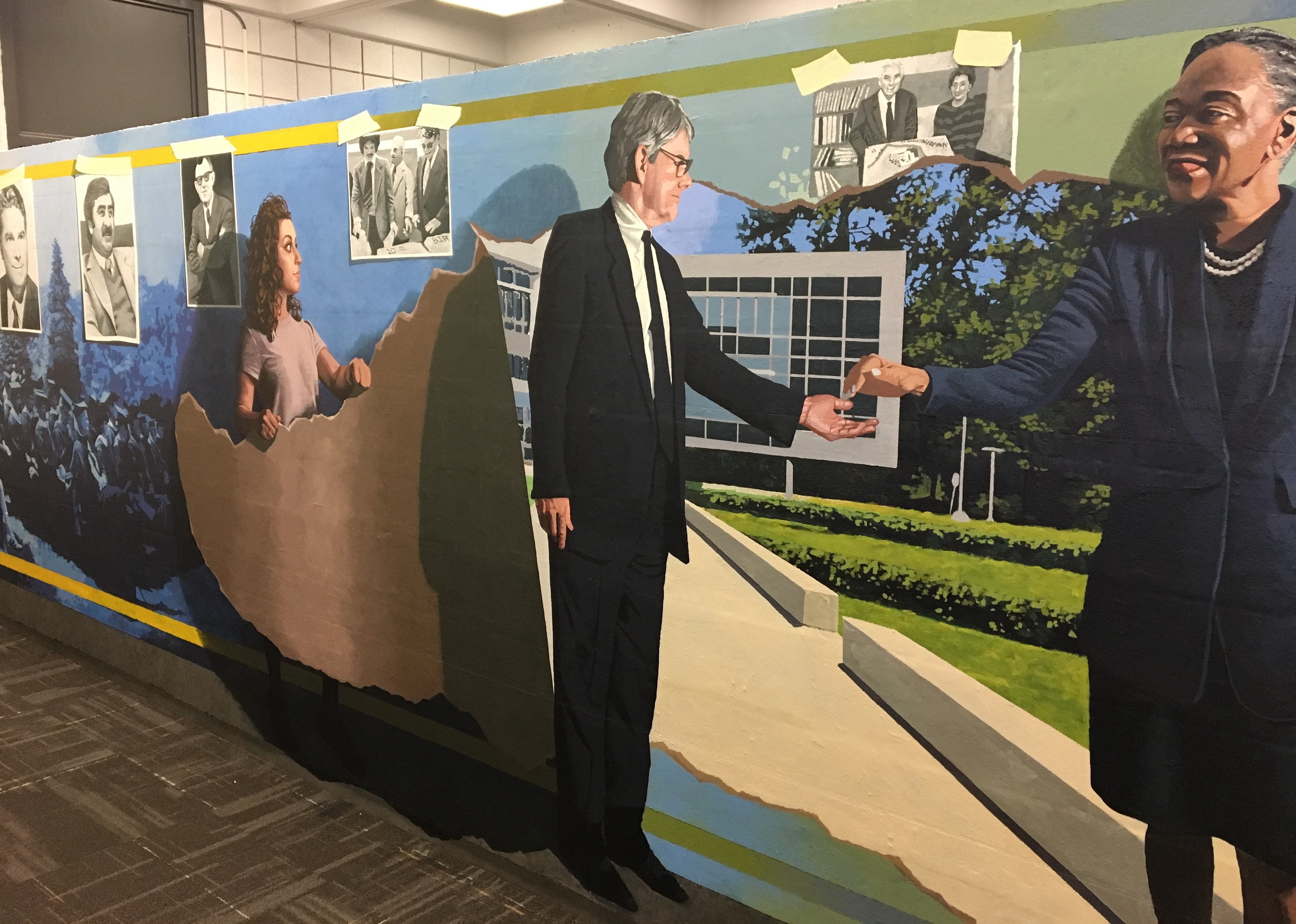 Delaware County Community College's Presidential Lineage Celebrated in New Mural