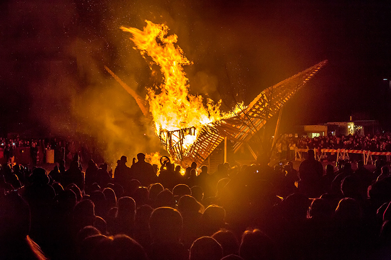 Phoenixville Continues Tradition of Burning Phoenix at Firebird Festival