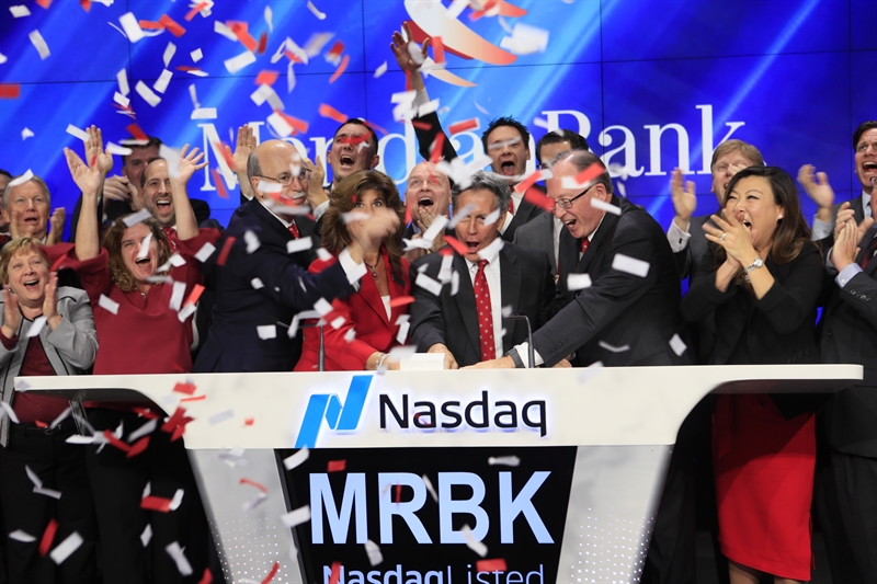 After Successful IPO, Meridian Bank Rings Nasdaq Stock Market's Closing Bell