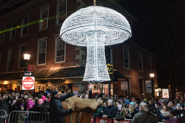 Kennett Square's Fifth Annual Mushroom Drop Expected to Draw Thousands