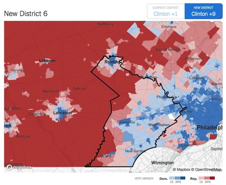 New Map New Close TimesPennsylvania's Congressional York Yby7f6g