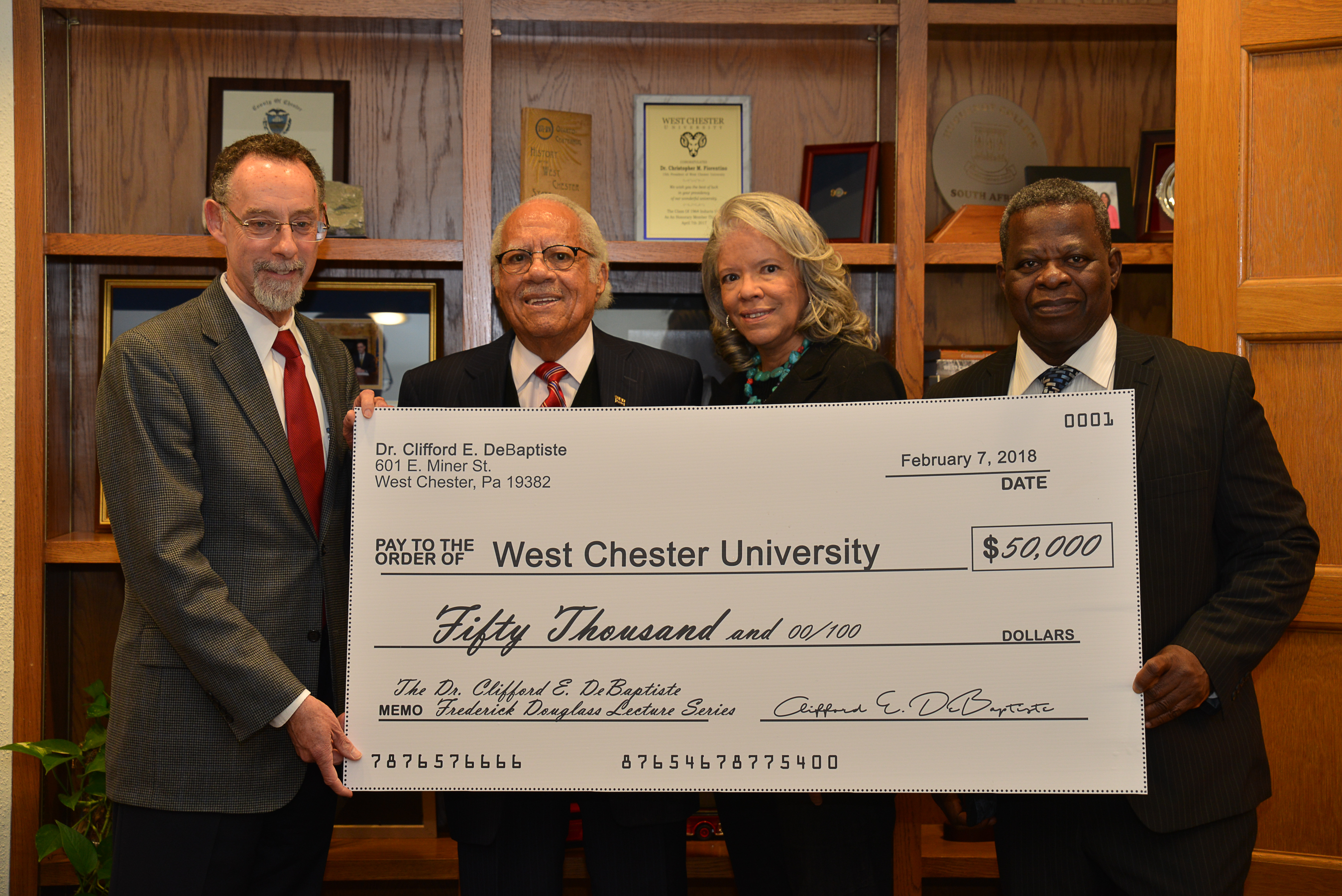 West Chester's First African-American Mayor Gifts $50,000 to WCU in Honor of Frederick Douglass