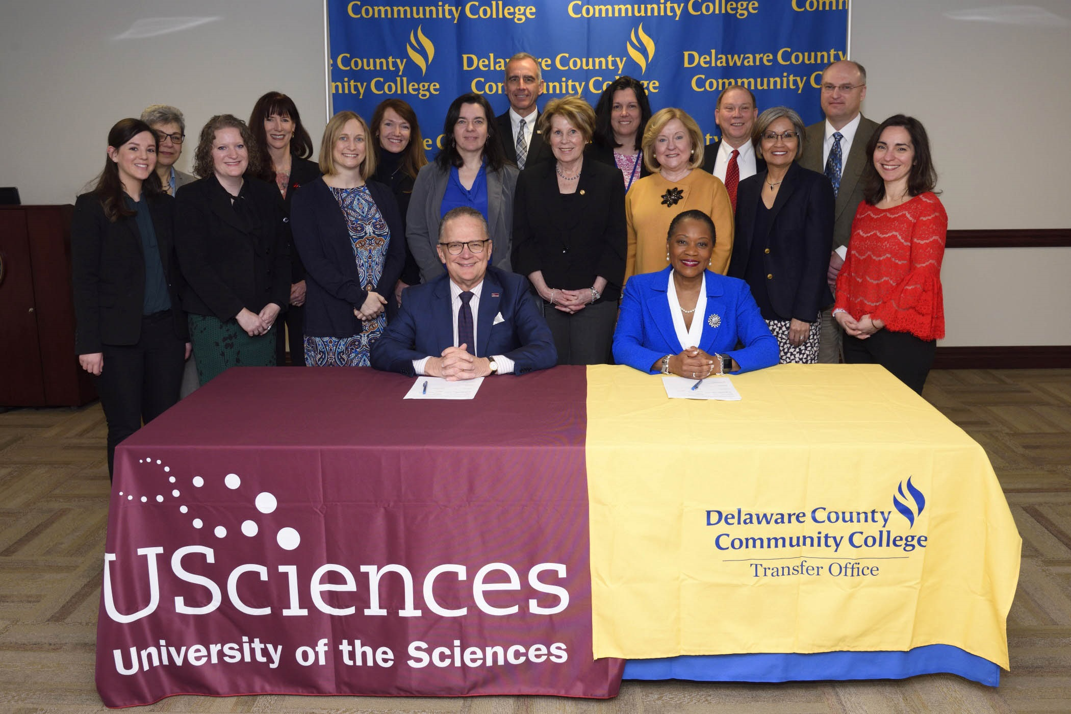 University Of The Sciences Delaware County Community College Sign