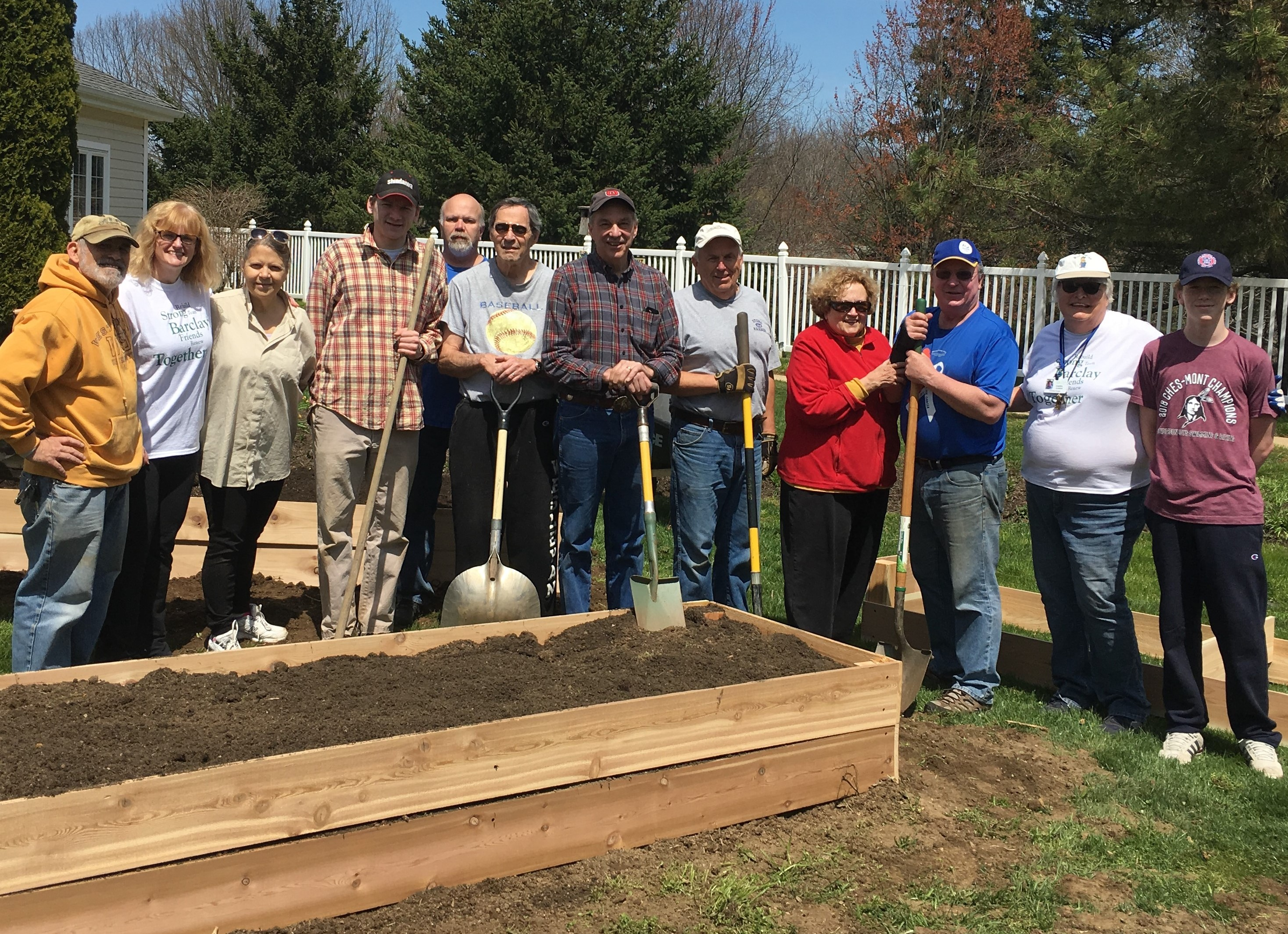 Greater West Chester Sunrise Rotary Helps Rebuild Food Bank Garden at Barclay Friends