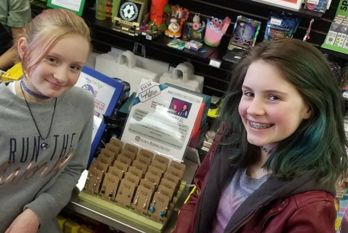 Handmade Earrings from Enterprising Sisters Fly Off the Shelves at Local Toy Store
