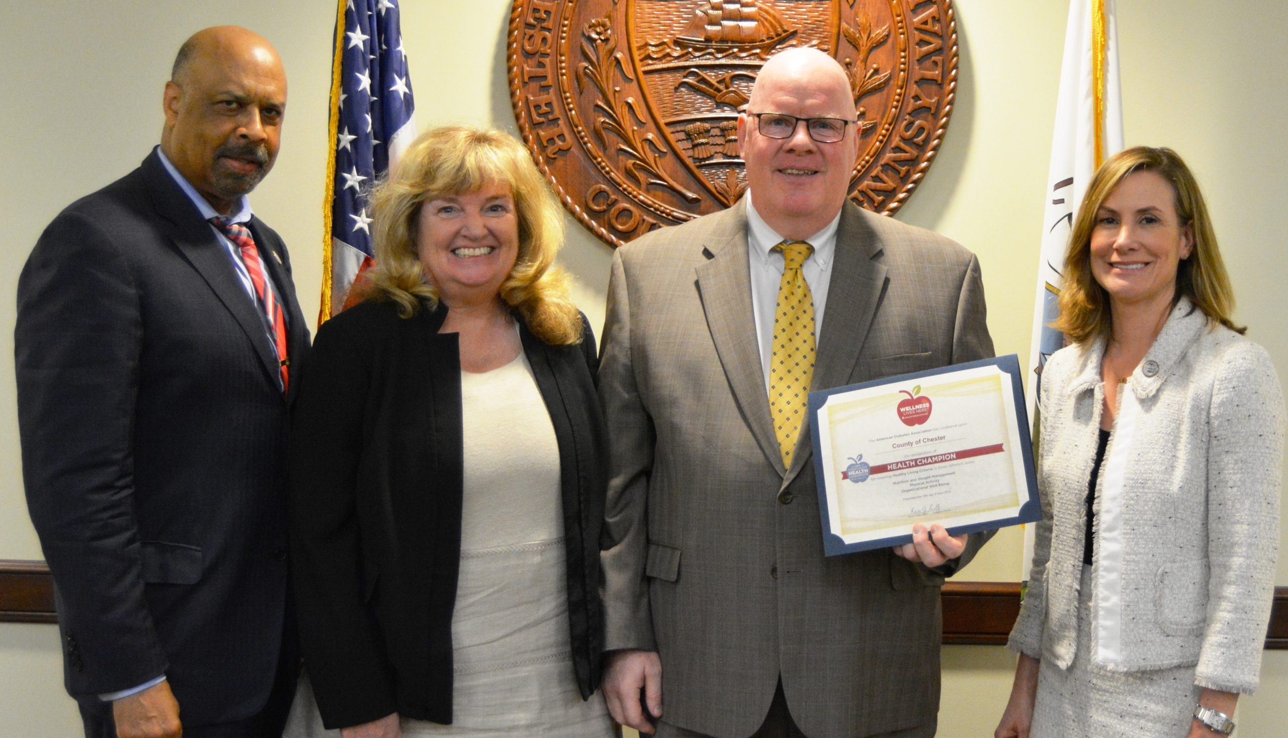 Chester County Earns Health Champion Designation by American Diabetes Association
