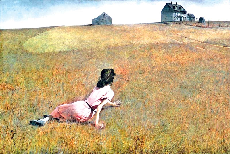 Study of Iconic 'Christina's World' House One of Several Wyeth Works Up for Auction