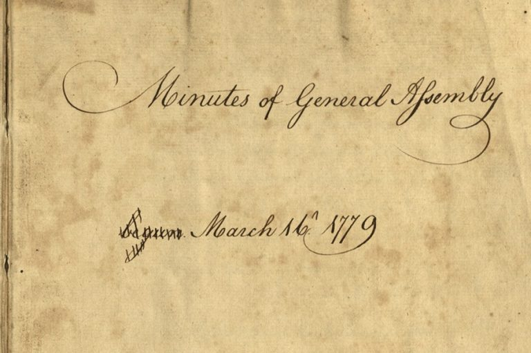 Long-Lost General Assembly Minutes from Revolutionary War Era Gifted Back to Pennsylvania