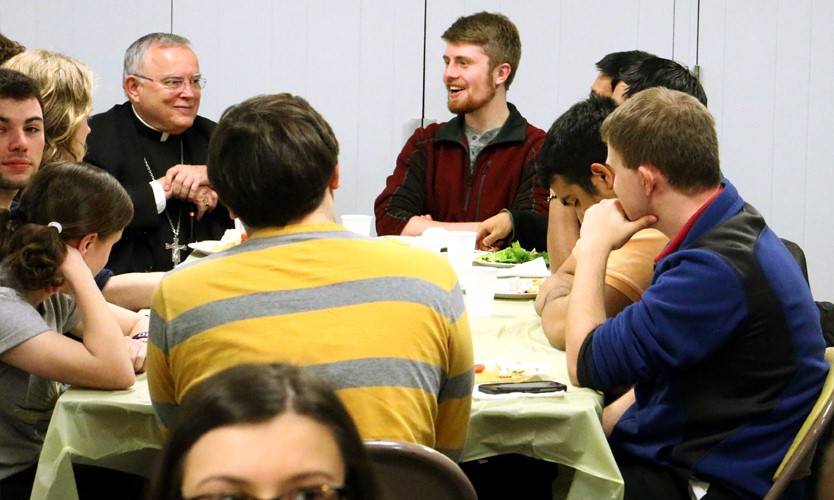 Archbishop Charles Chaput Connects, Holds Q&A with West Chester University Students