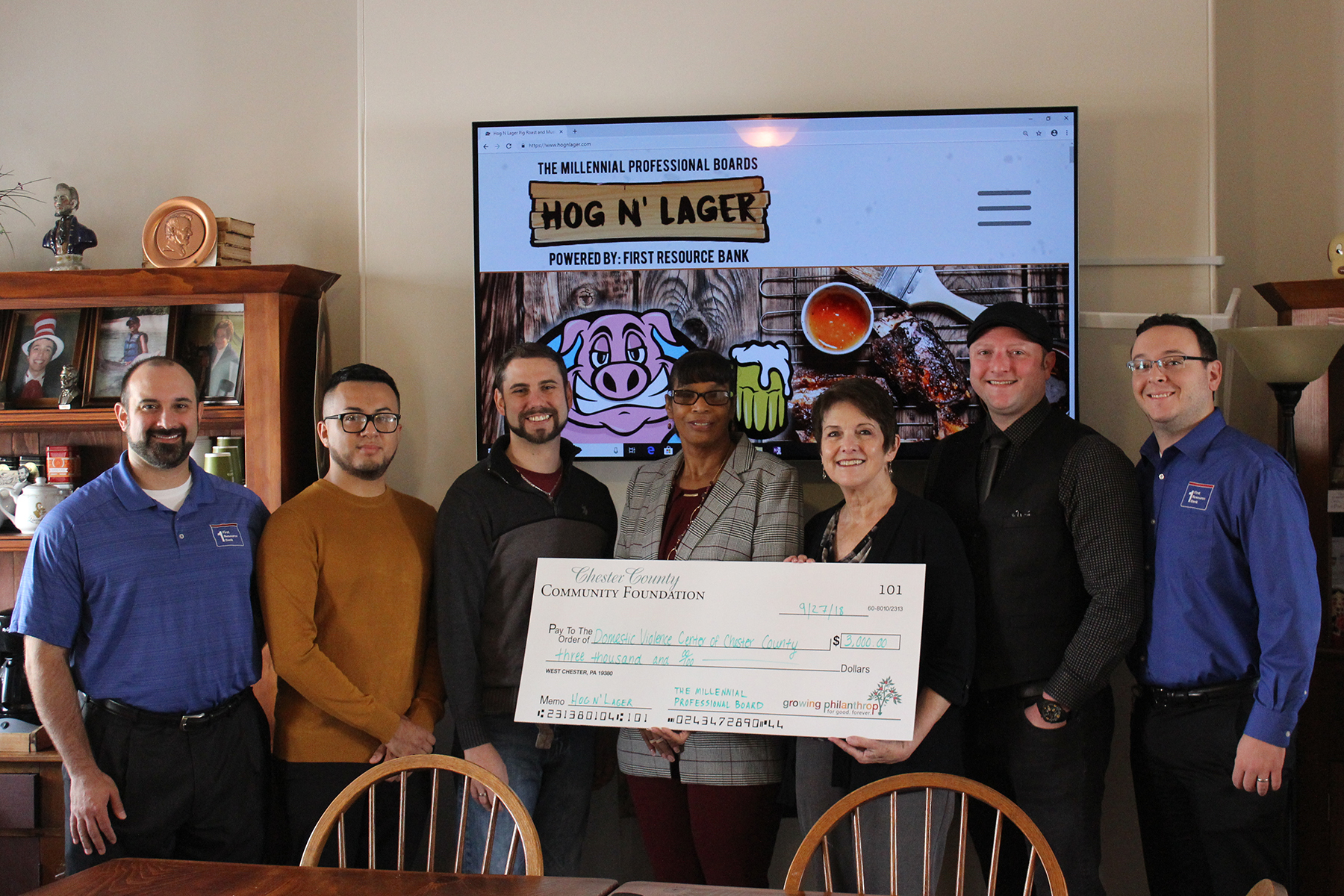 First Resource Bank, Its Millennial Professional Board Raise Funds for Victims of Domestic Abuse