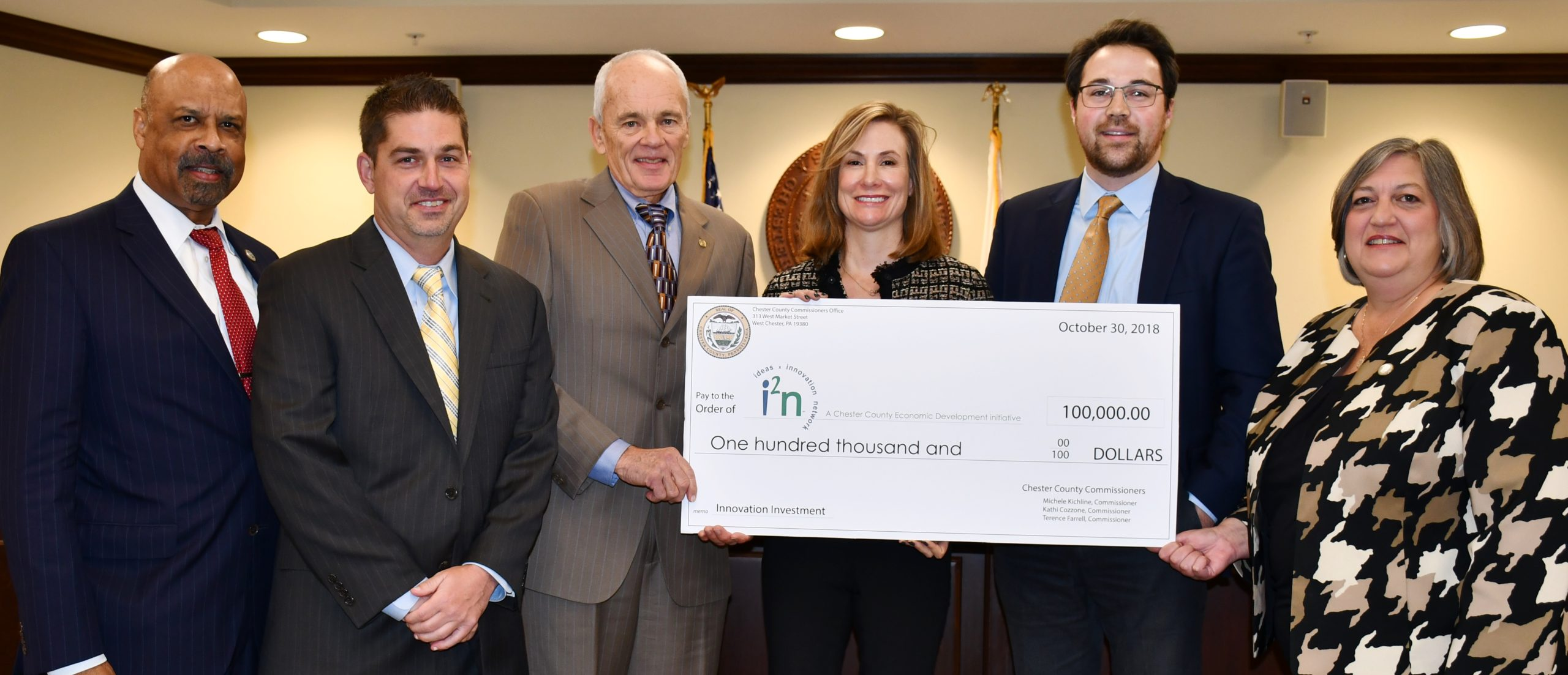 Local Tech Community Receives $100,000 Boost from Commissioners for CCEDC's i2n Program