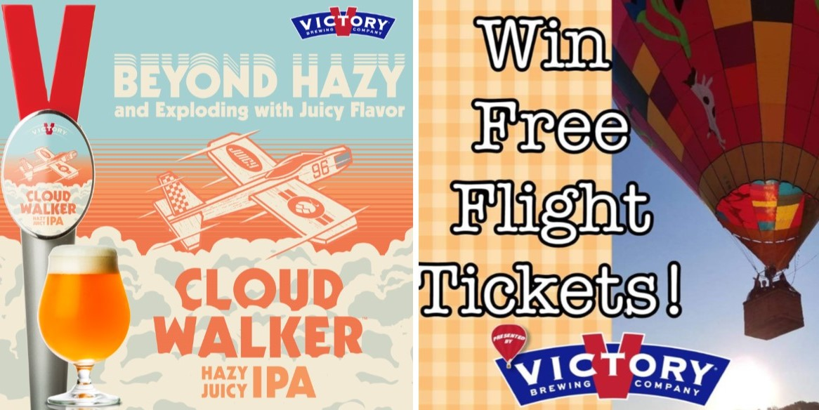 With Help from Air Ventures Balloon Flights, Victory to Unveil New Beer Today at Taprooms