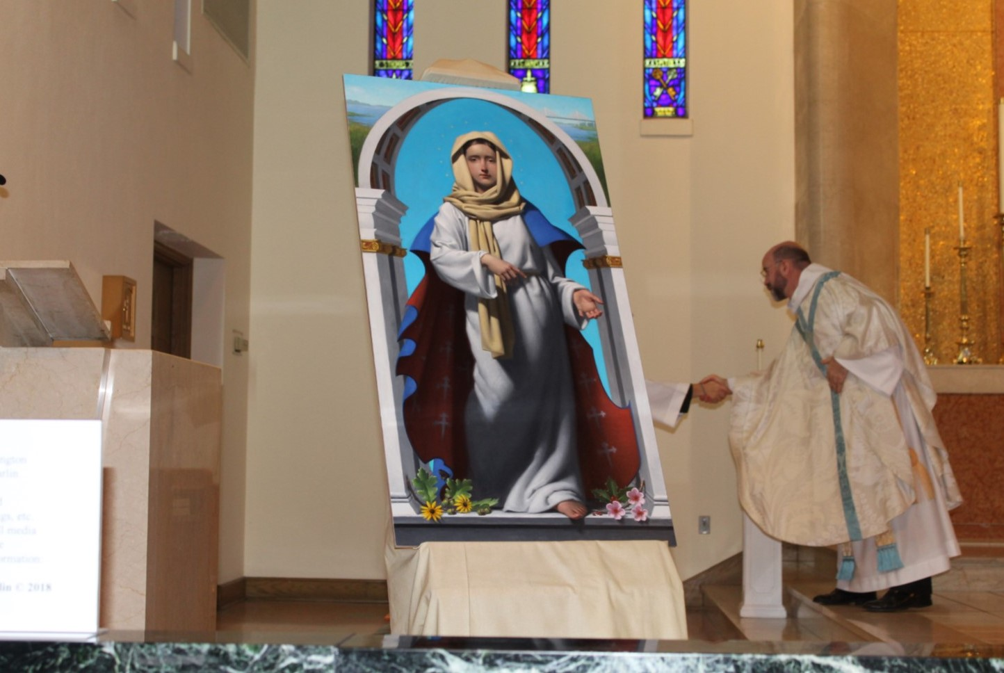 Kennett Square Artist Paints 'Our Lady of Wilmington' for Diocese in Delaware