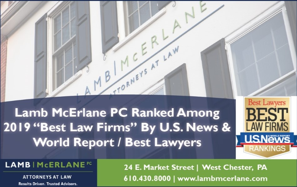 Lamb McErlane Ranks Among 2019 'Best Law Firms' by U.S. News & World Report