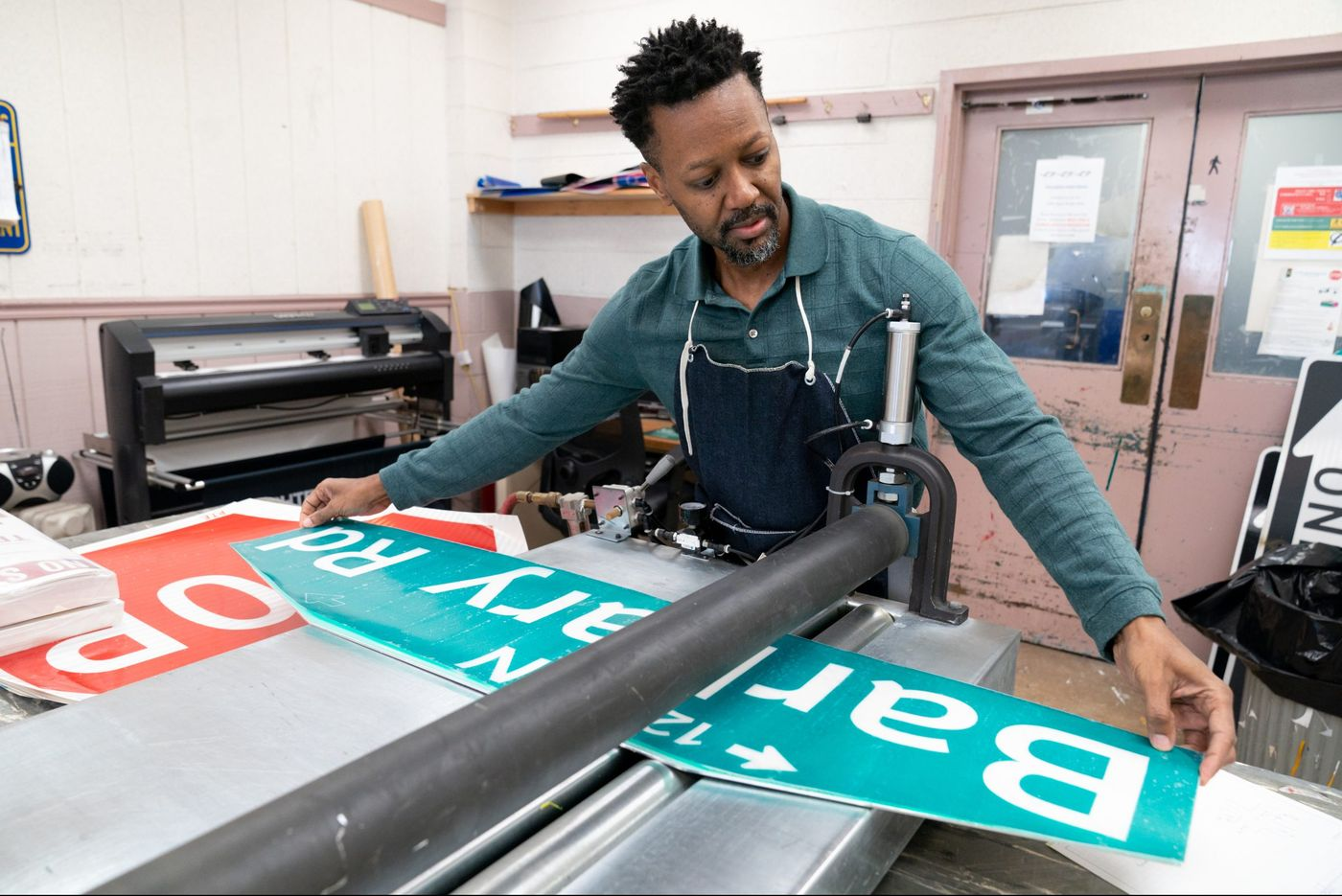 Three-Person Workshop Responsible for More Than 100,000 Street Signs in Philadelphia