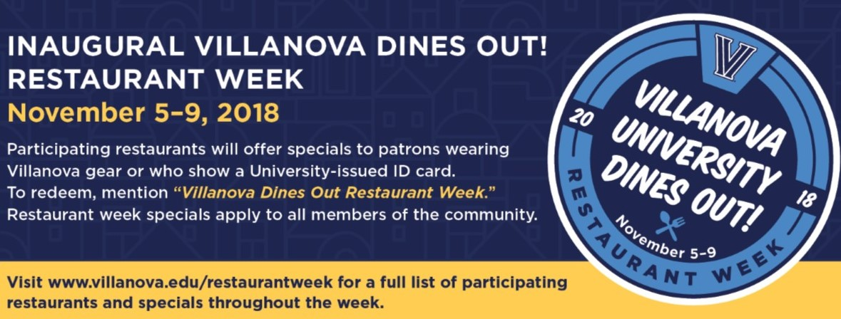 Villanova Dines Out! Restaurant Week to Bring Together Campus, Surrounding Communities