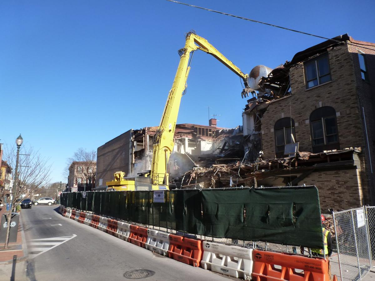 Developer 'So Excited to Get That (Mosteller) Building Down' as Demolition Finally Begins