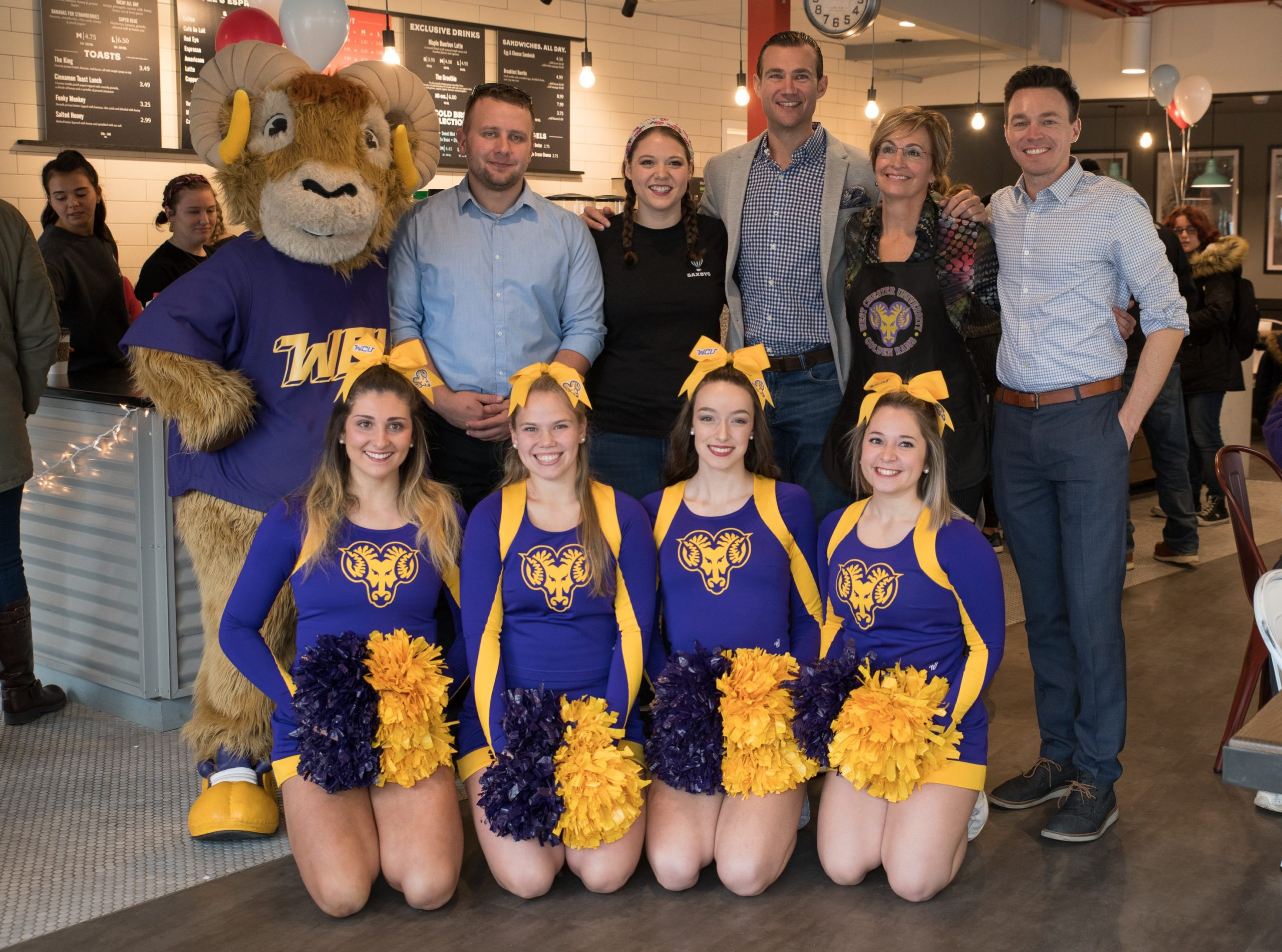 WCU President, Celebrity Baristas Celebrate Giving Tuesday at Saxbys Café on Campus