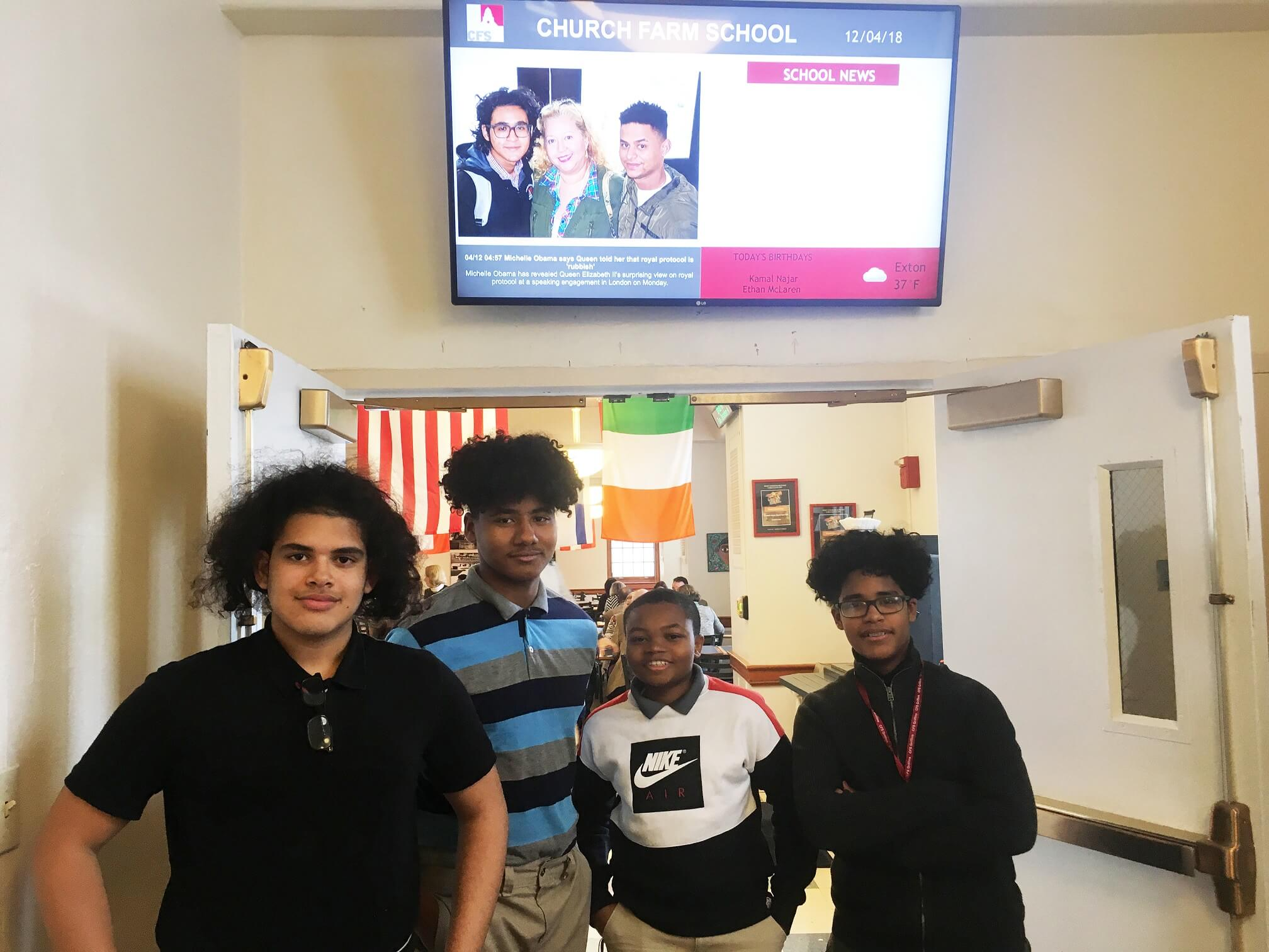 Local Tech Company Donates Monitors to CFS for Digital Signage, Residential Life Programs