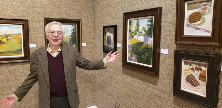 Local Artist's 50 Oil Paintings on Display in West Chester