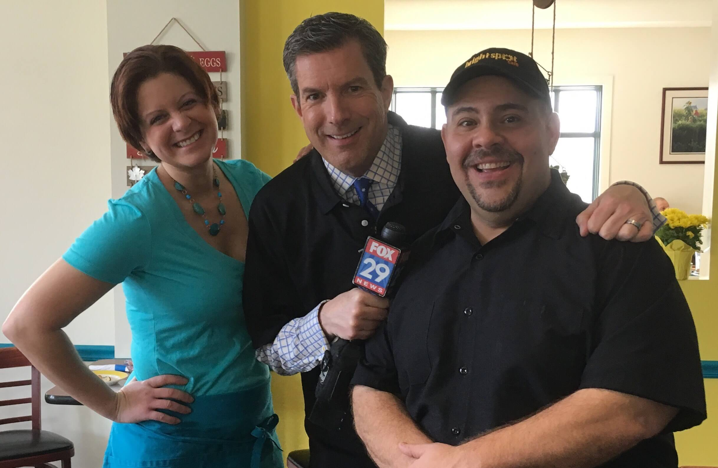 Fox 29's 'Breakfast with Bob' Broadcasts from New Bright Spot Café in Eagleview Town Center