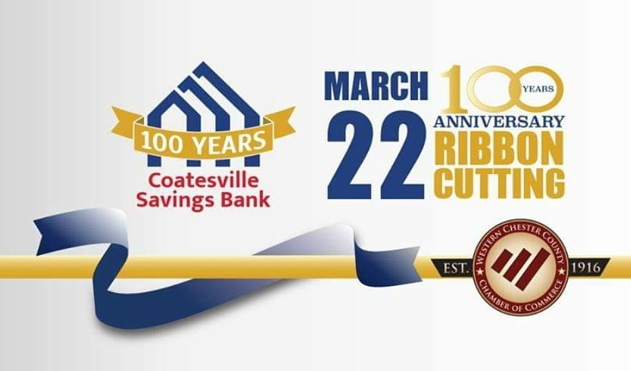 Coatesville Savings Bank, WCCCC to Celebrate Bank's 100th Anniversary with Networking Breakfast