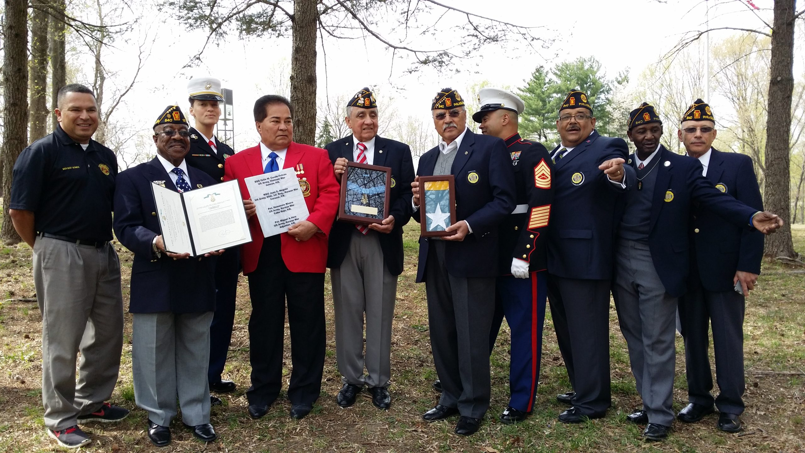 Latin American Legion Post 840 to Rededicate Puerto Rico Area of Medal of Honor Grove