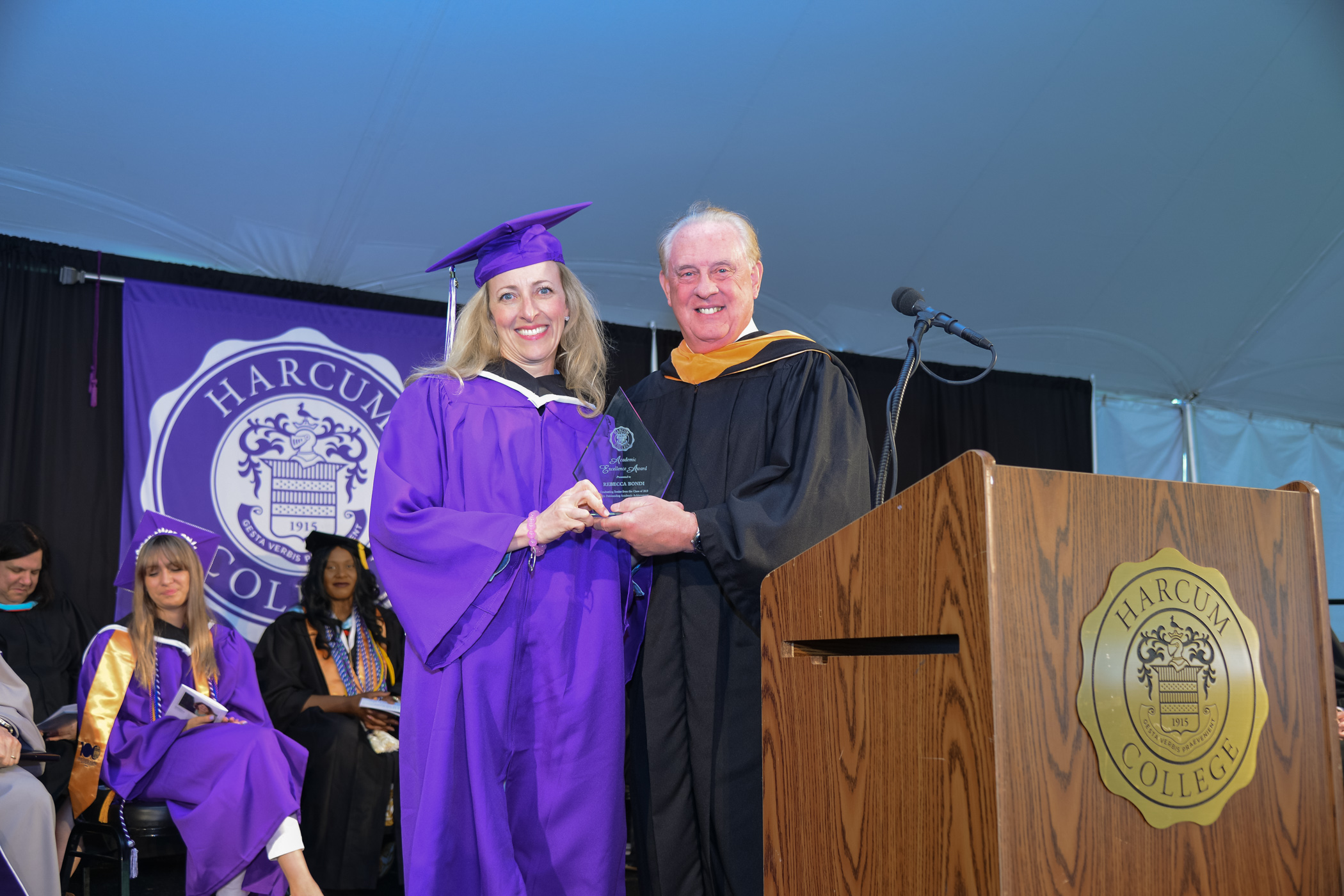 Kennett Square Mother Receives Highest Academic Award from Harcum College