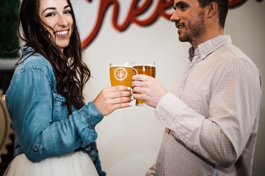 Malvern Couple Finds Perfect Spot for Engagement Photos at Workhorse Brewing